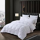 Sunyrisy Daunendecke 200x220 cm, Deluxe Komfort Gänsedaunen Bettdecke, Warm und Leicht, Weiß
