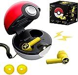2021 Poké-Mon Bluetooth-Kopfhörer, Pikachu Bluetooth 5-in-Ear-Headset, Touch-Steuerung, Pokeball-Ladefach-Design