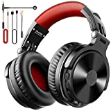OneOdio Bluetooth Kopfhörer Over Ear [Bis zu 80 Stdn & BT 5.0] Bass Kopfhörer Kabellos mit Mikrofon für Freisprechen, HiFi Faltbares PC Headset mit Kabel, 50mm Treiber, Boom Mic für Handy/Laptop